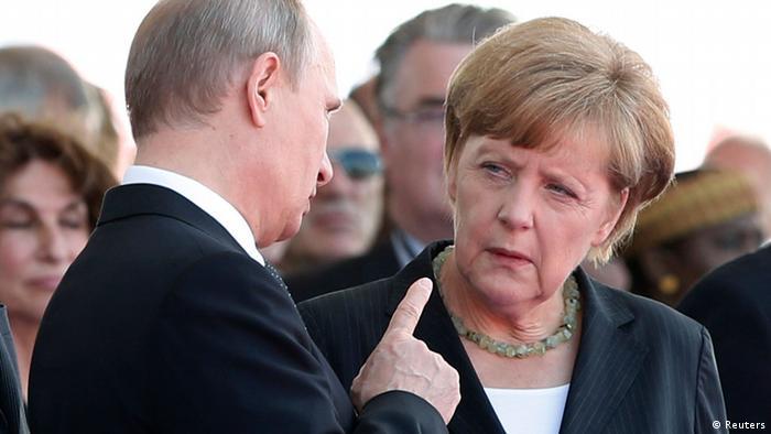 Президент Росії Володимир Путін (л.) та канцлерка ФРН Анґела Меркель (п.) (фото з архіву)