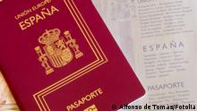 Detail of an spanish passport. Documentation for travelers #62609348