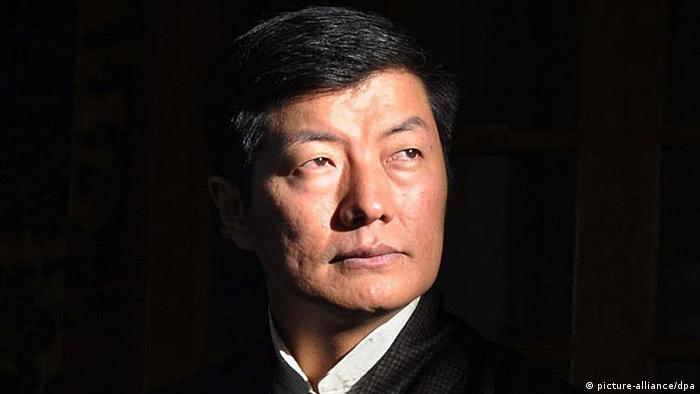 Prime Minister of the Central Tibetan Administration Lobsang Sangay attends a function to mark the awarding of the Nobel Peace Prize spiritual leader Dalai Lama and the International Human Rights Day in Dharmsala, India, 10 December 2013.