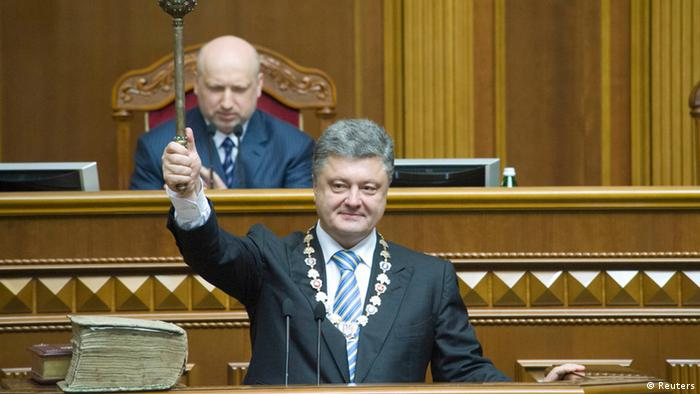 Ukraine Präsident Petro Poroschenko Vereidigung 07.06.2014