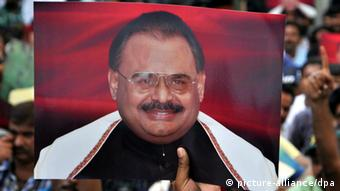 Altaf Hussain Mutahida Qaumi Movement Pakistan (picture-alliance/dpa)