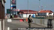 Grenze zwischen Russland und der Ukraine