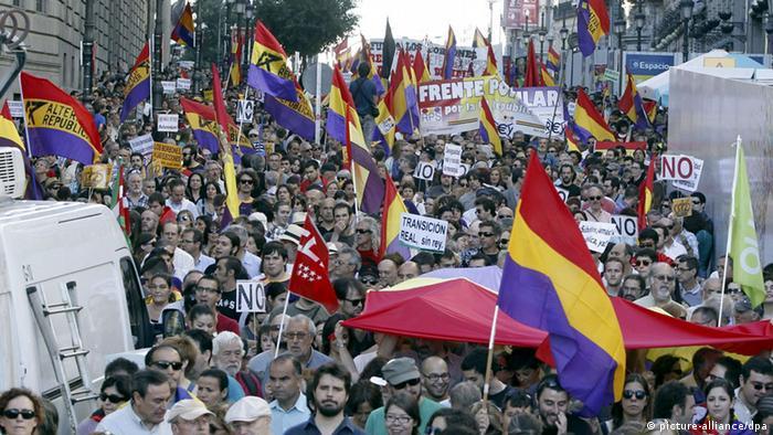 Marchas de protesta contra la monarquía en España este 7 de junio.