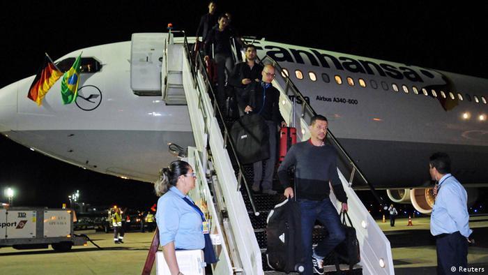 Deutsche Nationalmannschaft Ankunft in Brasilien WM 2014