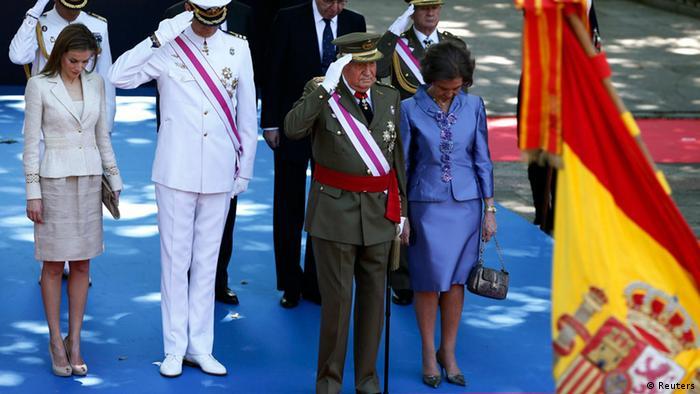 Feierliche Verabschiedung von Spaniens König Juan Carlos (Foto: Reuters)
