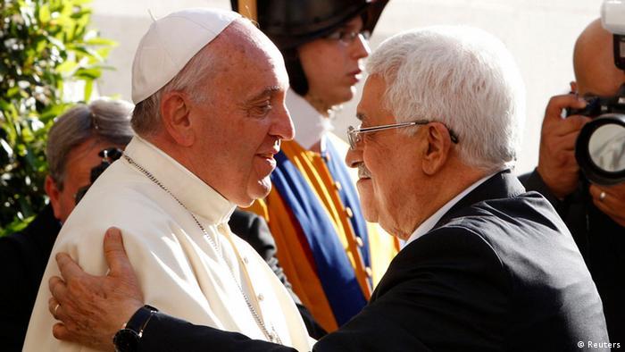 Francisco com Abbas em junho de 2014