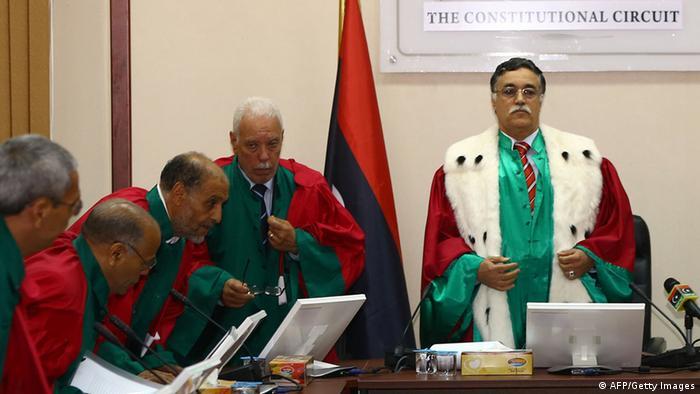 Oberstes Gericht in Libyen erklärt Wahl Maitiegs für ungültig 9.6.2014 (AFP/Getty Images)