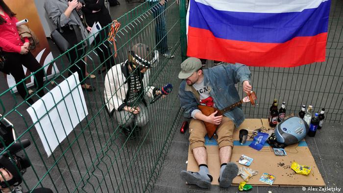 Київський художник-жлобіст Іван Семесюк в образі російського окупанта