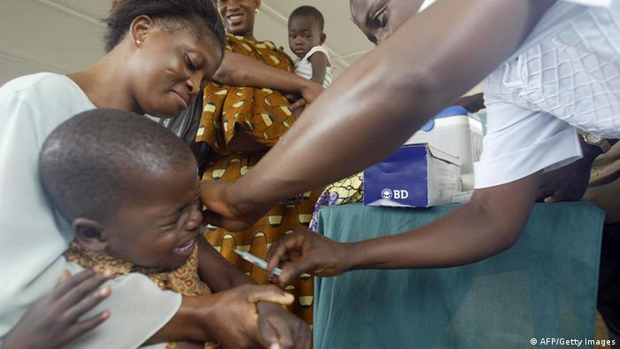 Child being vaccinated against measles in Nigeria (AFP/Getty Images)