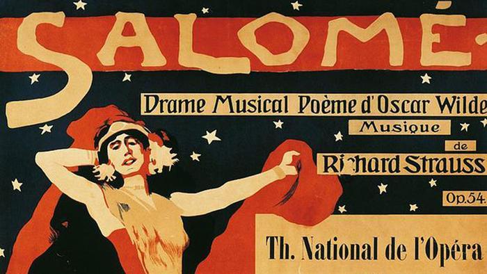 Plakat der Oper Salome von Richard Strauss