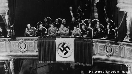 Joseph Goebbels pictured at the Vienna Opera