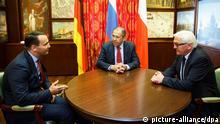 Steinmeier mit Lawrow und Sikorski 10.06.2014 in St. Petersburg