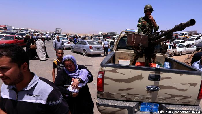 Refugees fleeing violence in northern Iraq