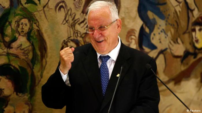 Reuven Rivlin makes a speech after being elected Israel's president (Photo: REUTERS/Ronen Zvulun)