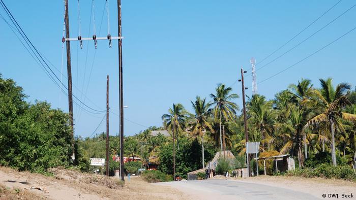 Mosambik Stromleitungen