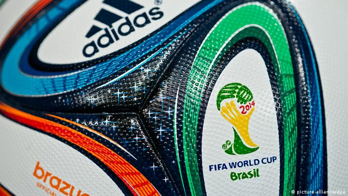 The official World Cup soccer ball was manufactured by Adidas.