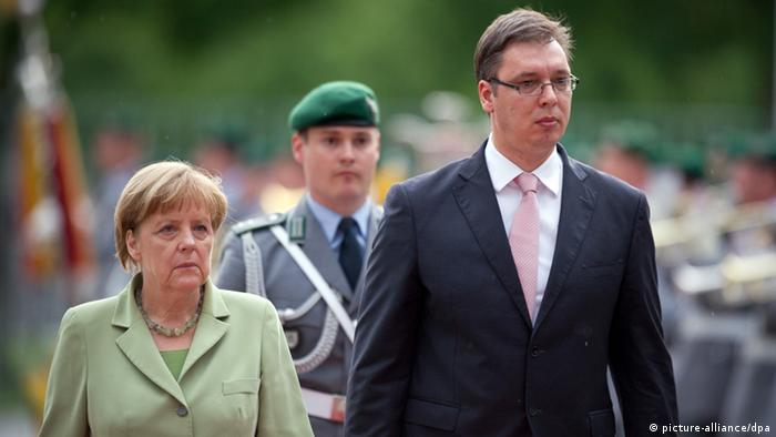 Angela Merkel i Aleksandar Vučić u Berlinu u lipnju 2014.