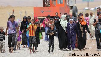 Irakische Flüchtlinge im Irak