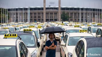 Berlin taxi drivers staged a strike in June 2014 to demand a ban on ...
