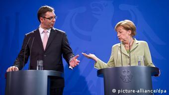 Merkel und Vucic PK 11.06.2014 Berlin