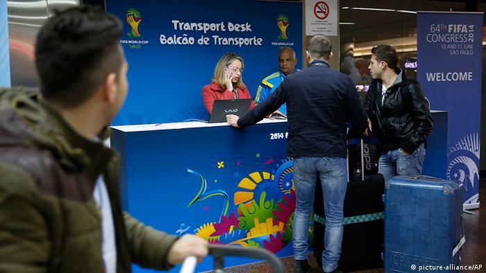 Ankunft in Brasilien (Foto: picture-alliance/AP)