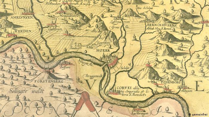 Карта владений имперского аббатства 1620 года