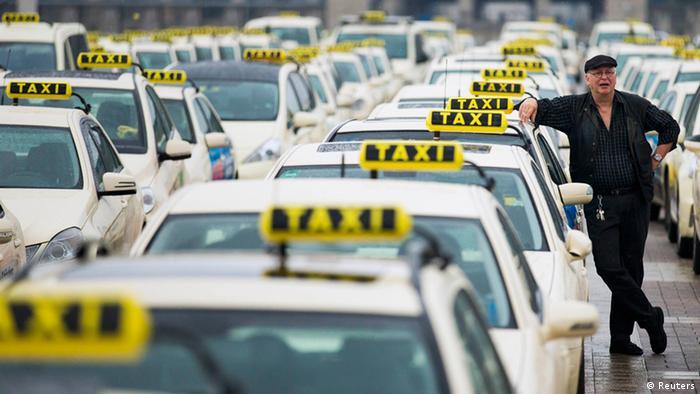 Taxifahrer Streik wegen Handy-Apps 11.06.2014 Berlin