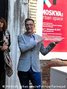 Architect Charles Renfro at the Venice Biennale 2014, Copyright: MOSKVA: urban space/Patricia Parinejad