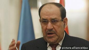 Iraks Ministerpräsident Nuri al-Maliki bei einer Rede in Bagdad (Foto: EPA/ALI AL-SAADI/POOL)