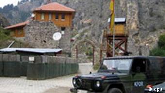 A KFOR jeep in Kosovo