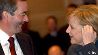 Matthias Platzeck und Angela Merkel