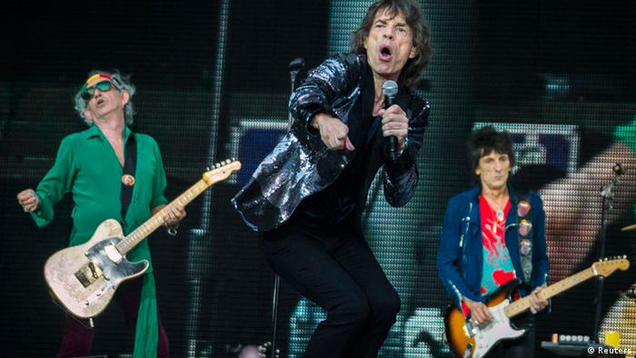 Keith Richards, Mick Jagger und Ron Wood 