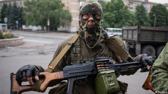 Ostukraine Krise Separatisten 12.06.2014 in Snischne