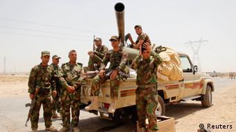 نیروهای کردی پیشمرگه در کرکوک