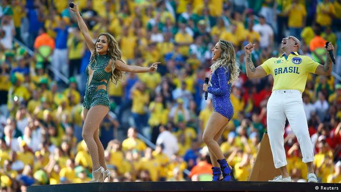 WM Fußball Brasilien 2014 Eröffnungsfeier Jennifer Lopez