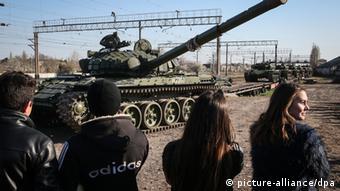 Russische Panzer auf der Krim