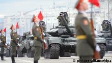 Russische Panzer während einer Parade