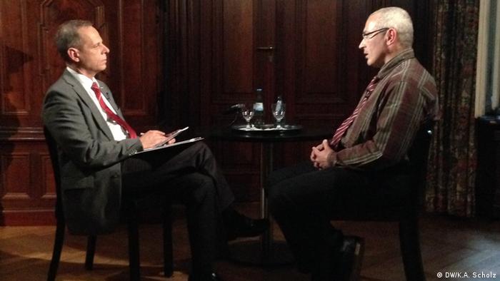 Михаил Ходорковский в беседе с Никитой Жолквером