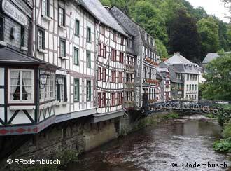Las típicas casas de entramado se han conservado a través de los siglos.