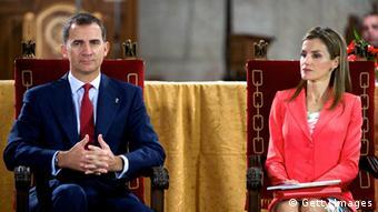 King Felipe and his wife, Letizia.
