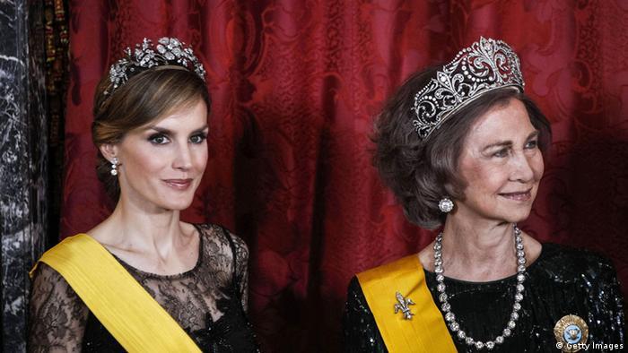Prinzessin Letizia und Königin Sofia von Spanien. (Foto: Getty Images)