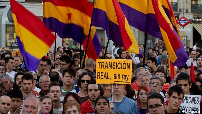 Proteste gegen die spanische Monarchie. (Foto: Getty Images)