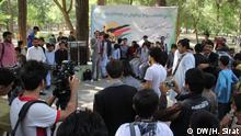 Feier in Kabul, einen Tag vor der Stichwahl. Damit wollten die Veranstalter die Menschen ermutigen ihre Stimme abzugeben. Foto: DW-Korrespondent Hussain Sirat