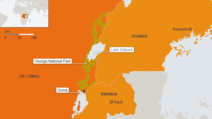 ENG Karte Virunga Nationalpark Demokratische Republik Kongo