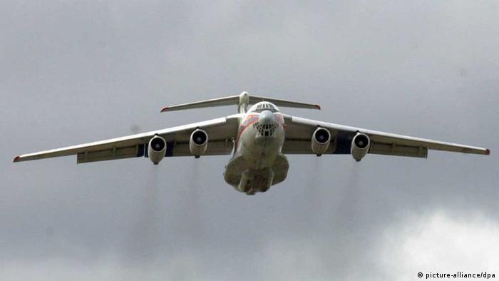 Russische Iljuschin 76/ Ukraine Flugzeugabschuss