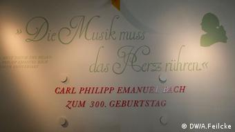 Music should go to the heart, a quote from CPE Bach, in an inscription at an exhibition at the Bach Museum in Leipzig