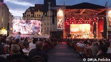 !Bachmosphäre! - Veranstaltung auf dem Leipziger Marktplatz.. 13.6.2014 Foto: DW/Adelheid Feilcke, 13.6.2014,