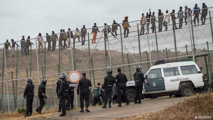 Melilla spanische Exklave Flüchtlingsansturm 17.5.2014