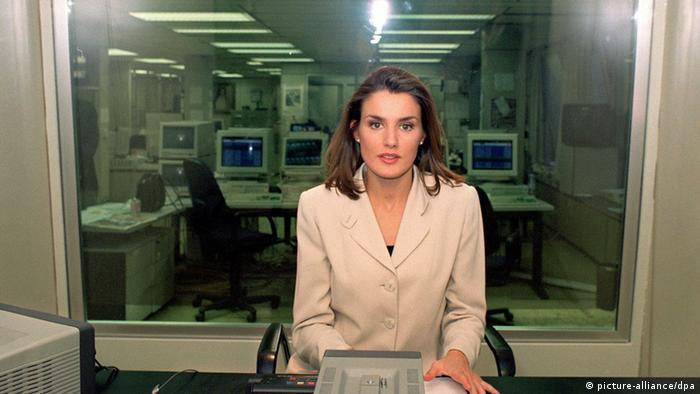 Frau des Kronprinzen Felipe Letizia Ortiz 1997. (Foto: picture-alliance/dpa)