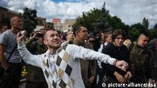 Ukraine Kiew Russische Botschaft Proteste